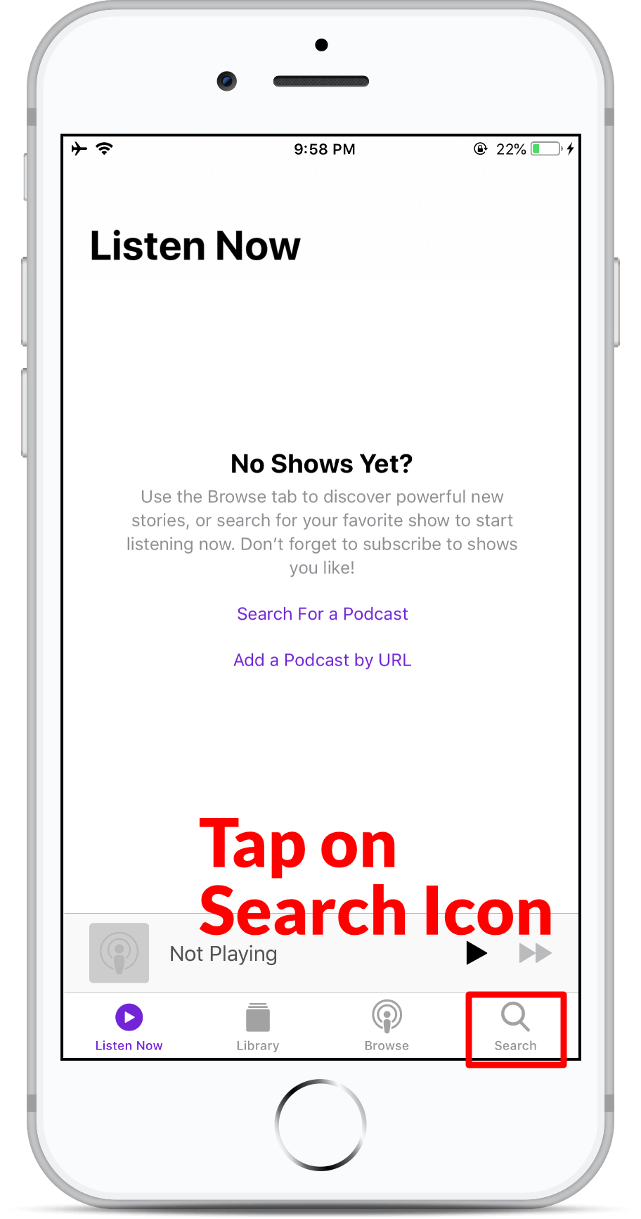Subscribe on Apple Podcast - Step 2