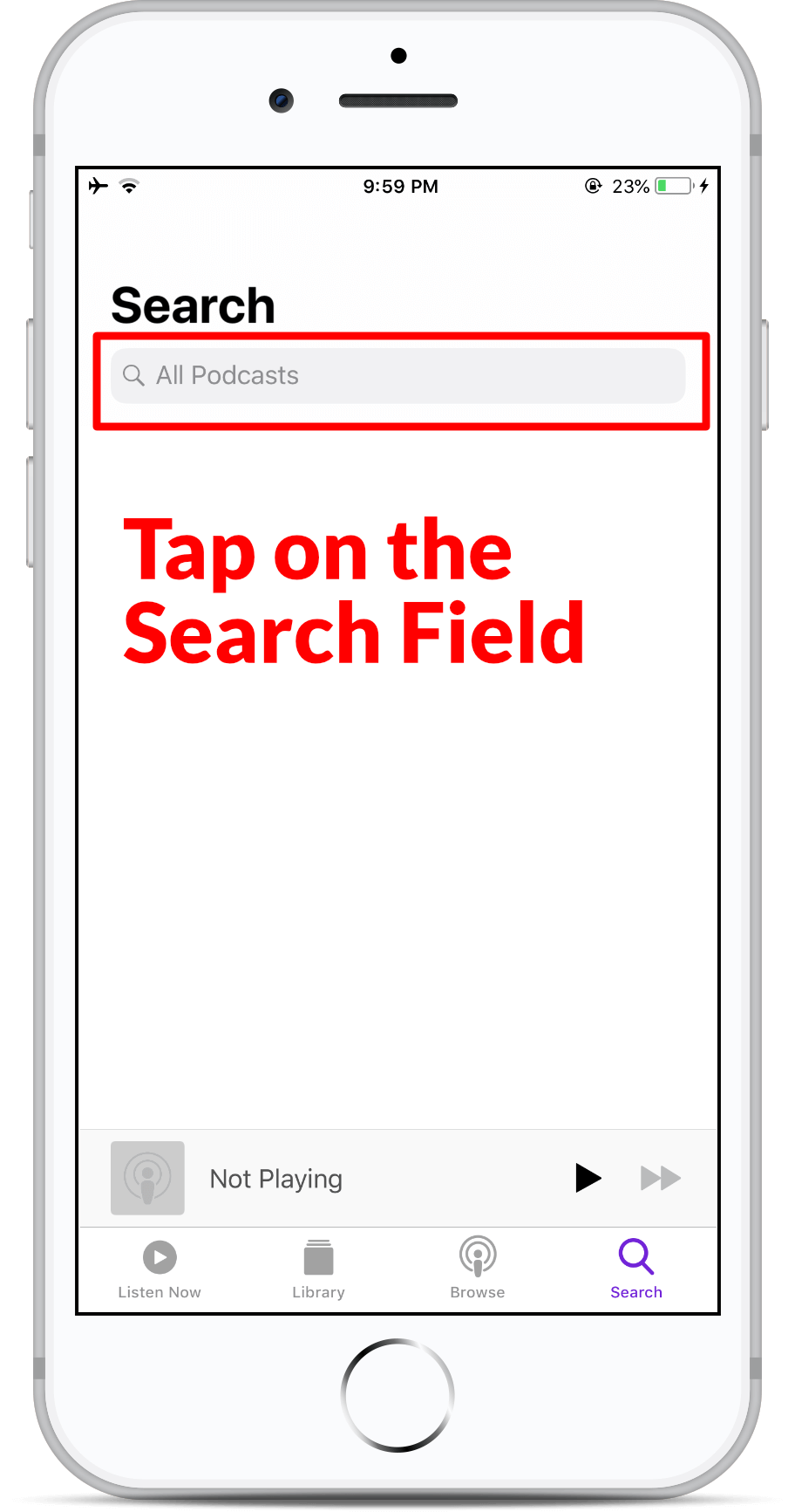 Subscribe on Apple Podcast - Step 3